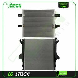 Fits 2003-2007 Dodge Ram 2500 3500 Replacement Radiator And Condenser Assembly