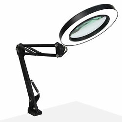 10x Magnifying Glass Table Lamp Folding Clip‑on Led Beauty Tattoo Nail Art Lamp