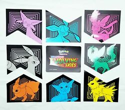 Pokemon Evolving Skies Promotional Removable Stickers Decal 9pcs NEW