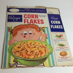1960's Kroger Grocery Store Corn Flakes Cereal Box