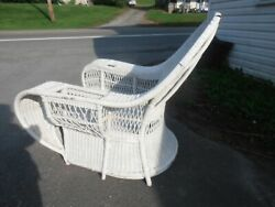 Antique Vtg Wicker Rattan Chair Dryad England Arts And Crafts Era Freight Ship