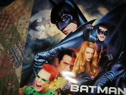 Batman Forever Hand Signed By Val Kilmer And Joel Schumacher In Person