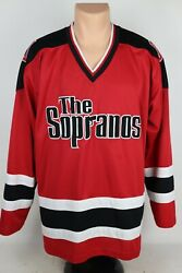 The Sopranos Hbo Exclusive Merchandise Adult Xl Red Hockey Style Jersey Shirt