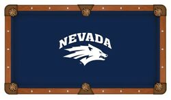 Nevada Wolfpack Hbs Navy With White Logo Billiard Pool Table Cloth