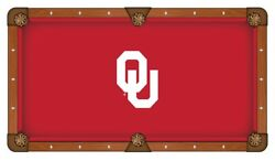 Oklahoma Sooners Hbs Red With White Ou Logo Billiard Pool Table Cloth