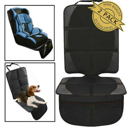 Car Seat Protector Storage Pockets Cover X2 For Baby Infant Toddler Kick Mat Bag