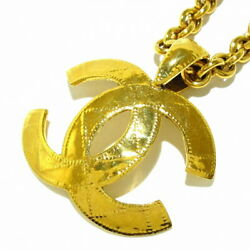 Necklace Metal Material Gold Coco Mark Previously Owned No.5222