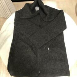 Knit Pullover Zip Sweater Free Shipping No.6223