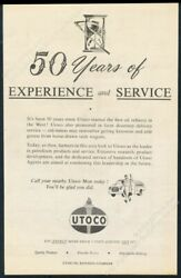 1959 Utoco Gas Oil 50th Anniversary Of 1st Refinery Vintage Print Ad