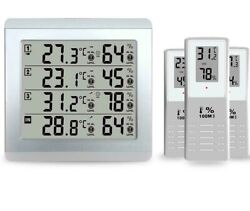 Home Garden Lcd Weather Station Digital Thermometer Hygrometer Wireless Indoor
