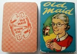 Vintage Playing Cards Card Game Old Maid 36 Cards Tower Press 1950s Inc Rules