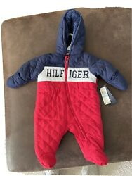 Nwt Infant Insulated Snowsuit Coveralls Red Blue Sz 6-9 Mo. 98