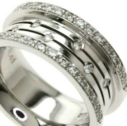 [used] Select Jewelry Diamond Ring Size 5.5-6 K18wg Japanese Brand Aup27