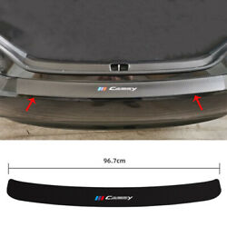For Toyota Camry 2012-2017 Leather Carbon Fiber Rear Bumper Sill Plate Protector
