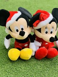 Mickey And Minnie Mouse Christmas Plush Collectables