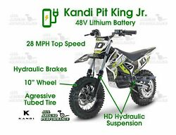 Kids Youth Mid Size 48v Lithium Battery Electric Dirt Bike Super Quiet Scooter