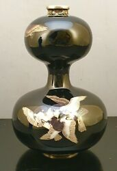 Outstanding Japanese Cloisonne Vase With Silver Wire By Higashiyama