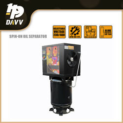 4 Kw 5.5 Hp Rotary Screw Air Compressor 18cfm@175psi With 60 Gallon Asme Tank