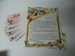5 Unused Letters W Envelopes From Santa - Santa Claus Land Indiana And Esso Oil Co