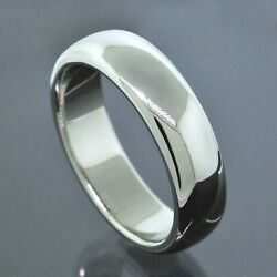 And Co. 1999 Platinum Pt950 6mm Wide Wedding Band Ring Size 9