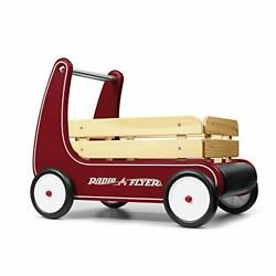 Radio Flyer Classic Walker Wagon, Sit To Stand Toddler Toy, Wood Walker, 1-4 Yea