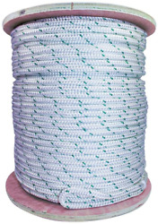 Sgt Knots Double Braid Polyester Pulling Rope With Eye Loop For Marine And 3/8 X