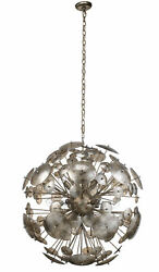 Jamie Young Constellation Round Chandelier In Antique Mercury Glass 5cons-mgch