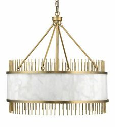 Jamie Young Upsala Chandelier In Antique Brass And White Alabaster 5upsa-abal