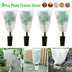 4 Pack Plant Cover Large Tree Cover 27in High Warm Worth Frost Protector Bag