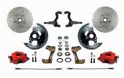 Leed Brakes Rfc1002m1a3x Front Disc Brake Kit W/stock Height Spindles Gm A/f/x-b