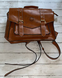 Ecosusi Womenand039s Faux Leather Classic Big Briefcase Brown Adjustable Euc