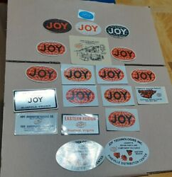 Lot Of 20 Different Joy Coal Mining Stickers Some Uncommon See Pictures