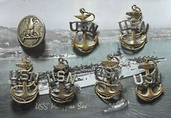 Rare Vintage 7 Us Navychief Petty Officercpo Anchor Lot 1893-present Wwi Wwii