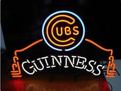 Guinness Chicago Cubs Neon Sign 20x16 Beer Light Lamp Bar Display Windows