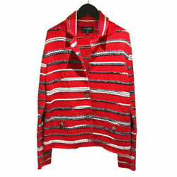 Tweenit Jacket P64262 20s Red Multi 40 Tailored Women And039s No.5073
