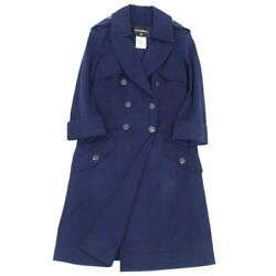 Coat 13p Trench Long Coco Mark Button Women And039s Wash Free Shipping No.5035