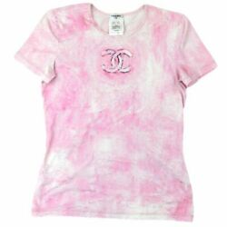 09c Coco Mark Shortsleeved Tshirt Sewn Women And039s Pink 40 Cotton No.5174