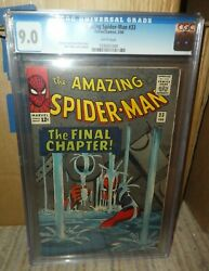Marvel Comics Amazing Spiderman Final Chapter 33 Great Grade 9.0 Cgc White Pages