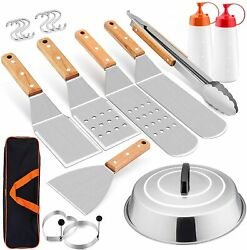 New Grill Accessories Kit, 12 Pcs Griddle Barbecue Tools Set Bbq Outdoor