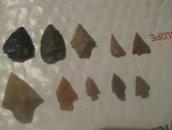 Arrowheads, Authentic, Gulf Coast Tx And La, Lot Of 10, Ships Out Same/next Day