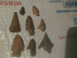 Arrowheads, Authentic, Gulf Coast Tx And La, Lot Of 8, Ships Out Same/next Day