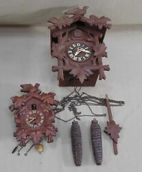 Vintage Lot 2 Regula Joly And Nelson German Cookoo Clock And Lux Cuckoo Mini Clock
