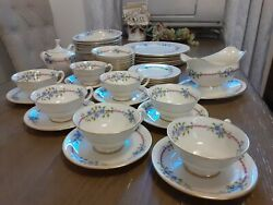 Lenox 40pc.set Belvidere By Lenox S-314 China Dinnerware Excellent Made In Usa.