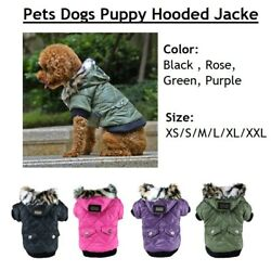 Pets Dogs Puppy Hooded Jacket Warm Winter Coat Snowsuit For Small Dogs Chihuahua