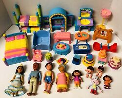 Dora The Explorer Talking House Furniture And Figure Assorted Lot Of 28 Pieces