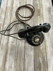 Monophone Automatic Electric Small Round Base Dial Telephone