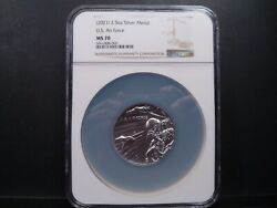 2021 Ms70 2.5oz Silver Medal U.s. Air Force Ngc Certified Mint Perfect
