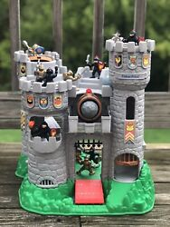 Knights And Castle Toy Figure Set Fisher Price 1993 Black Gold Mote Drawbridge
