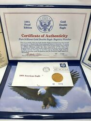 Vintage 14 Kt 1984 Proof Edition Of Gold Double Eagle