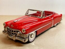 Cadillac Open Red Made In Japan 50's Series Tin Toy